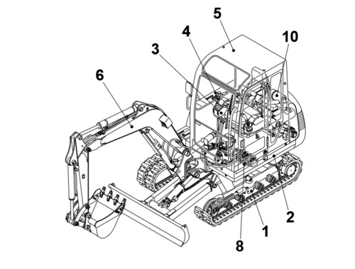 Product picture TAKEUCHI TB135 BG4Z010 CRAWLER LOADER PARTS MANUAL